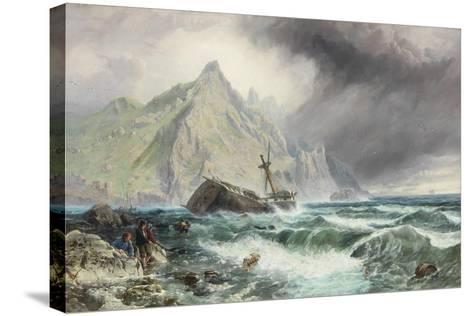 Wreck of a Frigate on the Southern Coast of Spain, 1863-Charles Napier Hemy-Stretched Canvas Print