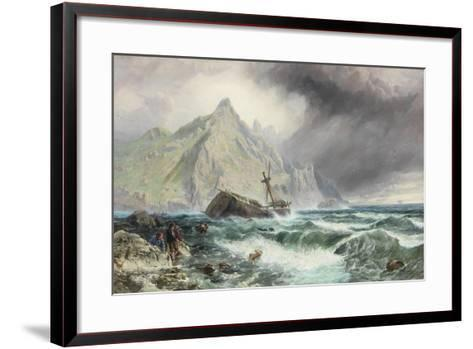Wreck of a Frigate on the Southern Coast of Spain, 1863-Charles Napier Hemy-Framed Art Print