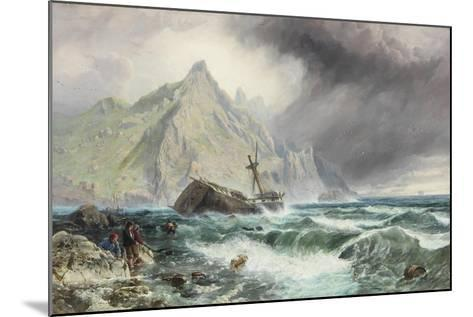 Wreck of a Frigate on the Southern Coast of Spain, 1863-Charles Napier Hemy-Mounted Giclee Print