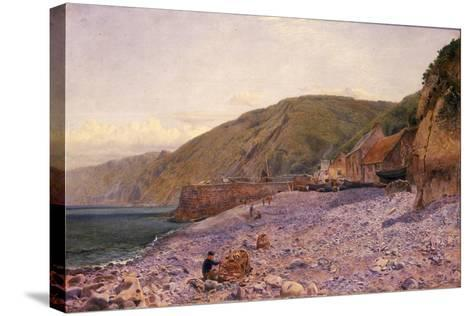 Among the Shingle at Clovelly, 1864-Charles Napier Hemy-Stretched Canvas Print