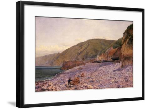 Among the Shingle at Clovelly, 1864-Charles Napier Hemy-Framed Art Print