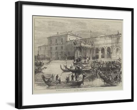 The Emperor of Austria and the King of Italy at Venice-Charles Robinson-Framed Art Print