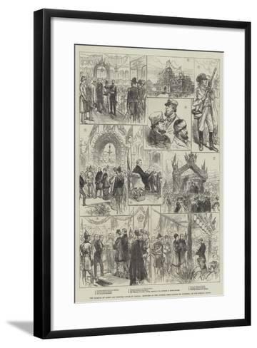 The Marquis of Lorne and Princess Louise in Canada-Charles Robinson-Framed Art Print