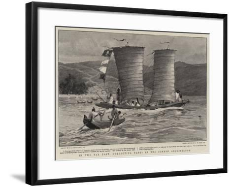 In the Far East, Collecting Taxes in the Corean Archipelago-Charles Joseph Staniland-Framed Art Print