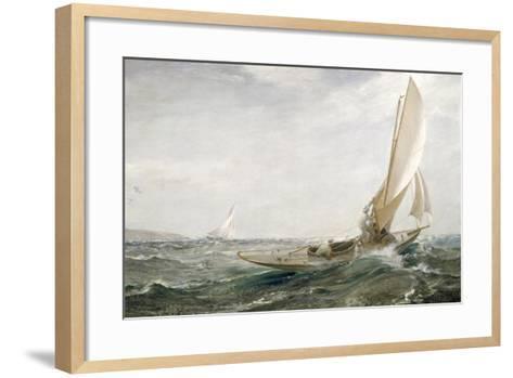 Through Sea and Air, 1910-Charles Napier Hemy-Framed Art Print