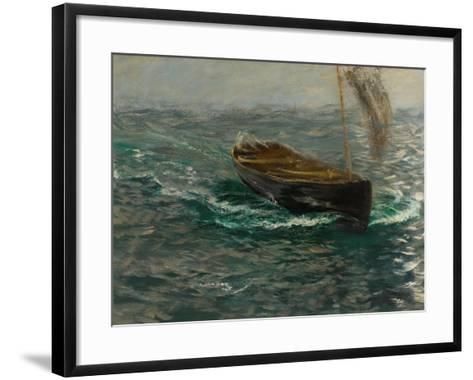 Study of a Sailing Dinghy-Charles Napier Hemy-Framed Art Print