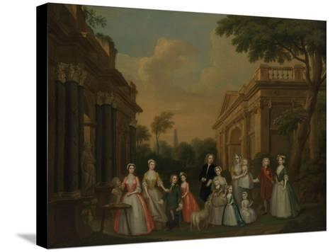 The Finch Family, C.1732-Charles Philips-Stretched Canvas Print