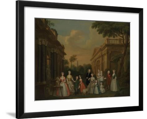 The Finch Family, C.1732-Charles Philips-Framed Art Print