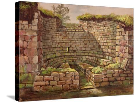 One of the Buildings in the Excavations Near the River-Charles Richardson-Stretched Canvas Print