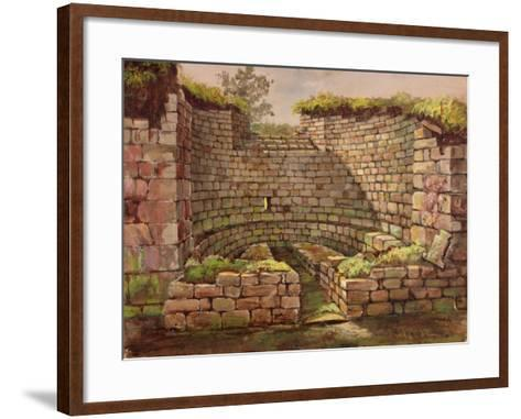 One of the Buildings in the Excavations Near the River-Charles Richardson-Framed Art Print