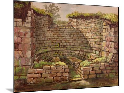 One of the Buildings in the Excavations Near the River-Charles Richardson-Mounted Giclee Print