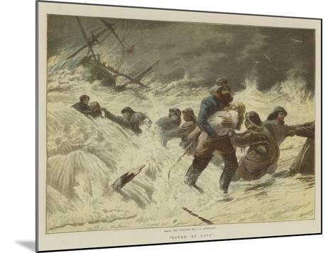Saved at Last-Charles Joseph Staniland-Mounted Giclee Print
