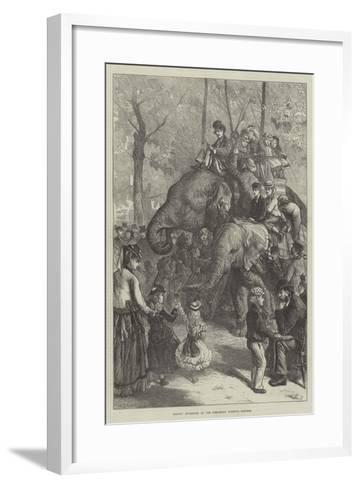 Monday Afternoon at the Zoological Society's Gardens-Charles Joseph Staniland-Framed Art Print