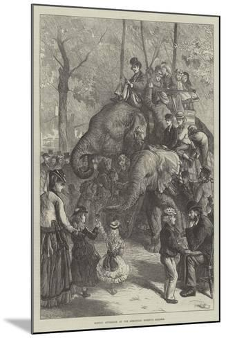 Monday Afternoon at the Zoological Society's Gardens-Charles Joseph Staniland-Mounted Giclee Print