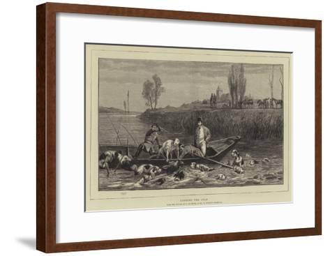 Landing the Stag-Charles Oliver De Penne-Framed Art Print