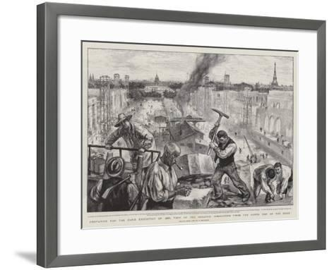 Preparing for the Paris Exhibition of 1900-Charles Paul Renouard-Framed Art Print