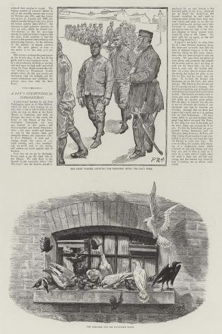 Convict Life at Wormwood Scrubs Prison-Charles Paul Renouard-Stretched Canvas Print