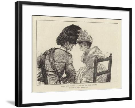 Mars and Venus, a Sketch in the Crowd-Charles Paul Renouard-Framed Art Print