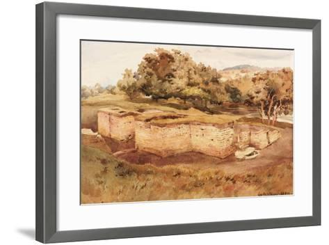 The Roman Baths, Chesters, North Tyne (West View) (Bodycolour on Paper)-Charles Richardson-Framed Art Print