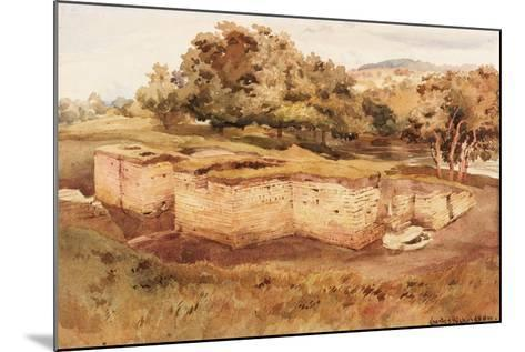 The Roman Baths, Chesters, North Tyne (West View) (Bodycolour on Paper)-Charles Richardson-Mounted Giclee Print