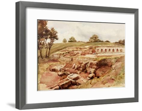 The Roman Baths, Chesters, North Tyne (North View) (Bodycolour, Pencil and W/C on Paper)-Charles Richardson-Framed Art Print