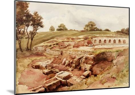 The Roman Baths, Chesters, North Tyne (North View) (Bodycolour, Pencil and W/C on Paper)-Charles Richardson-Mounted Giclee Print