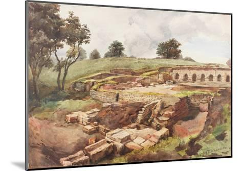 Bath House at Chesters from the North East (Bodycolour, Pencil and W/C on Paper)-Charles Richardson-Mounted Giclee Print