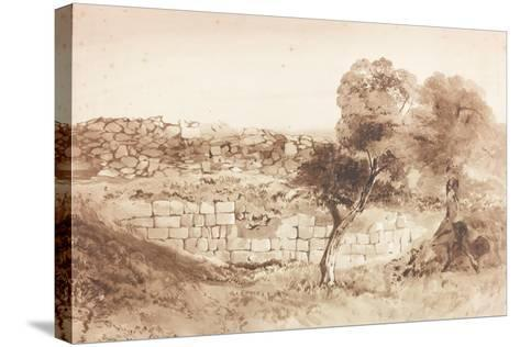 Part of the Eastern Rampart of Birdoswald-Charles Richardson-Stretched Canvas Print