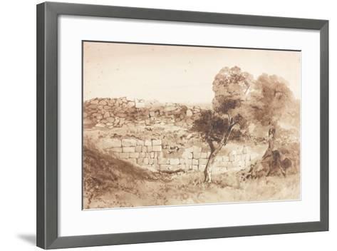 Part of the Eastern Rampart of Birdoswald-Charles Richardson-Framed Art Print