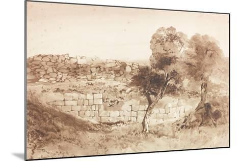 Part of the Eastern Rampart of Birdoswald-Charles Richardson-Mounted Giclee Print