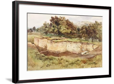 Chesters Bath House from the South West-Charles Richardson-Framed Art Print