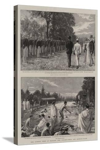 The Summer Term at Harrow, the Cricket-Field and Bathing-Place-Charles Joseph Staniland-Stretched Canvas Print