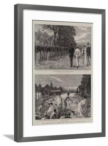 The Summer Term at Harrow, the Cricket-Field and Bathing-Place-Charles Joseph Staniland-Framed Art Print