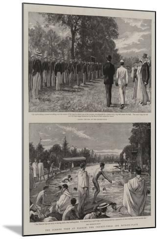 The Summer Term at Harrow, the Cricket-Field and Bathing-Place-Charles Joseph Staniland-Mounted Giclee Print