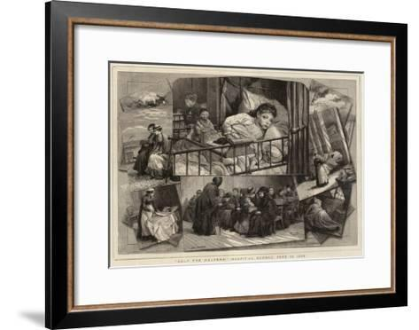 Help the Helpers!, Hospital Sunday, 13 June 1880-Charles Joseph Staniland-Framed Art Print