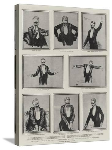 Portrait Studies of the Ex-President of the French Chamber of Deputies-Charles Paul Renouard-Stretched Canvas Print