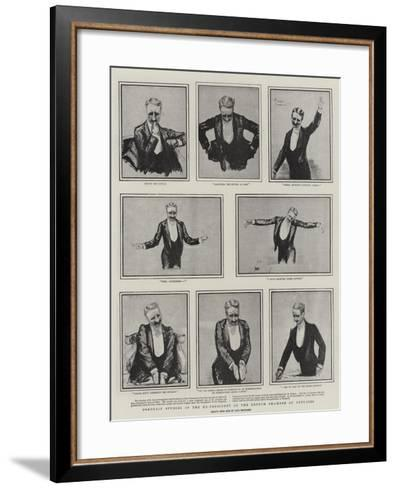 Portrait Studies of the Ex-President of the French Chamber of Deputies-Charles Paul Renouard-Framed Art Print