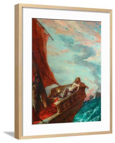Cleopatra in Flight-Charles Ricketts-Framed Art Print