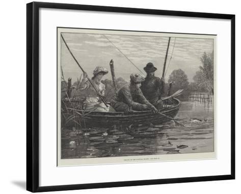 Fishing on the Norfolk Broads-Charles Joseph Staniland-Framed Art Print