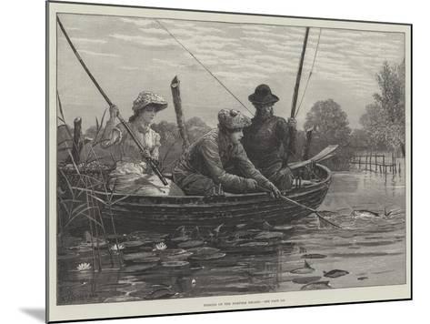 Fishing on the Norfolk Broads-Charles Joseph Staniland-Mounted Giclee Print