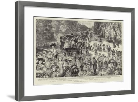 A Day's Outing for London Children, a Sunday School Treat in Bushey Park-Charles Paul Renouard-Framed Art Print