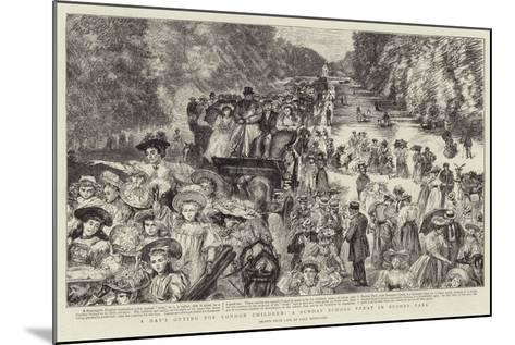 A Day's Outing for London Children, a Sunday School Treat in Bushey Park-Charles Paul Renouard-Mounted Giclee Print