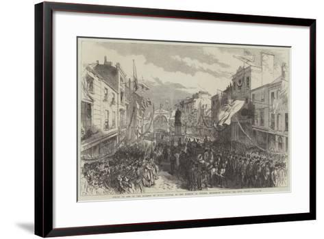 Coming of Age of the Marquis of Bute-Charles Robinson-Framed Art Print