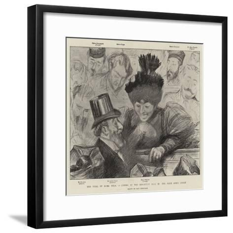 The Trial of Mons Zola, a Corner of the Reporters' Desk in the Paris Assize Court-Charles Paul Renouard-Framed Art Print