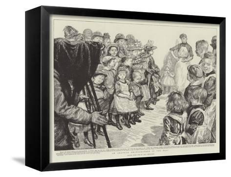 An Amateur Photographer in the East-Charles Paul Renouard-Framed Canvas Print