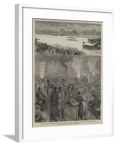 The Oxford and Cambridge Boat-Race-Charles Robinson-Framed Art Print