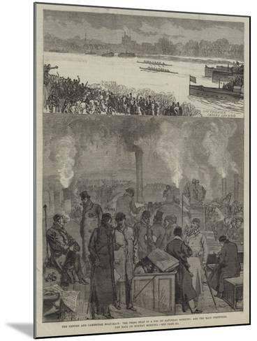 The Oxford and Cambridge Boat-Race-Charles Robinson-Mounted Giclee Print