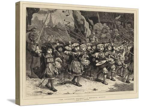 The Cockhorse Regiment, a Mediaeval Episode-Charles Joseph Staniland-Stretched Canvas Print