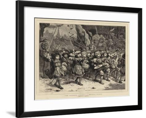 The Cockhorse Regiment, a Mediaeval Episode-Charles Joseph Staniland-Framed Art Print