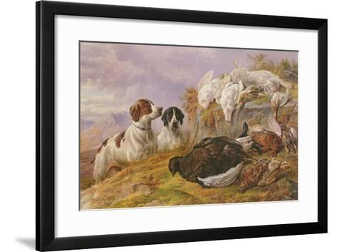 Pointers by the Day's Bag-Charles Jones-Framed Art Print